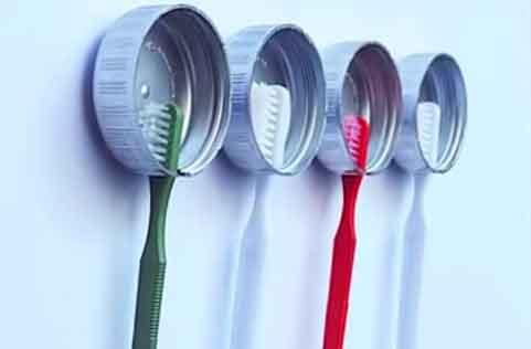 Kreasi Unik Membuat Gantungan Sikat Gigi Dari Tutup Botol ...
