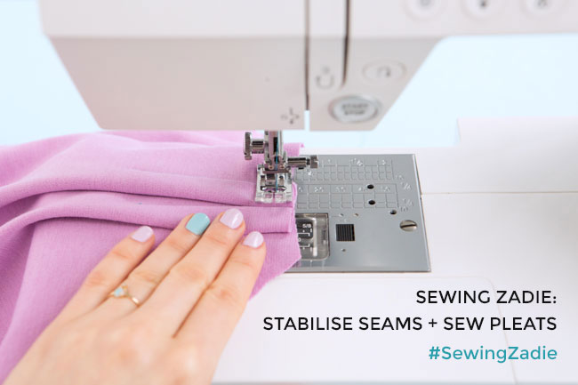 Sewing Zadie: Stabilise seams and sew pleats - Tilly and the Buttons