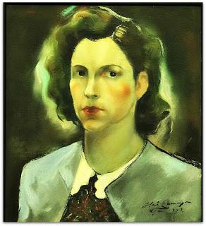Iberê Camargo - Retrato de Maria Coussirat Camargo (1943) - óleo sobre tela