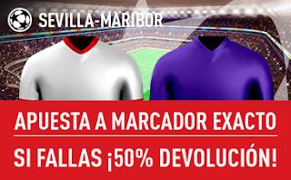 sportium promocion 25 euros Sevilla vs Maribor 26 septiembre