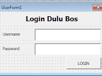 Membuat Form Login Di Excel Beserta Contoh