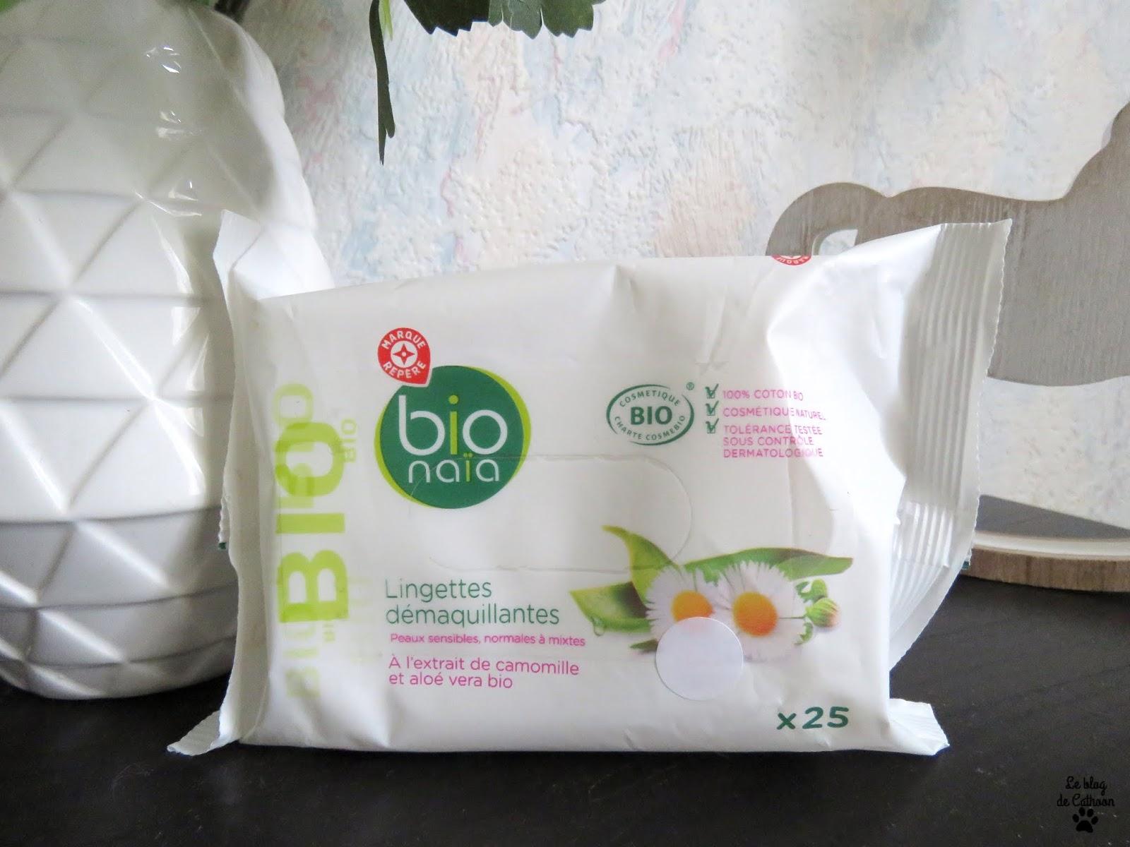 Lingettes Démaquillantes - Camomille et Aloé Vera Bio - Bio Naïa