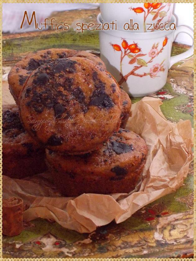 Muffins speziati alla zucca
