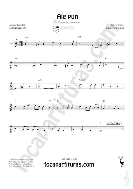 Oboe Partitura de Ale Pun Sheet Music for Oboe Music Score