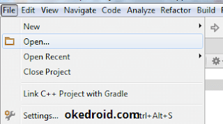 Open project existing cara kedua Android Studio