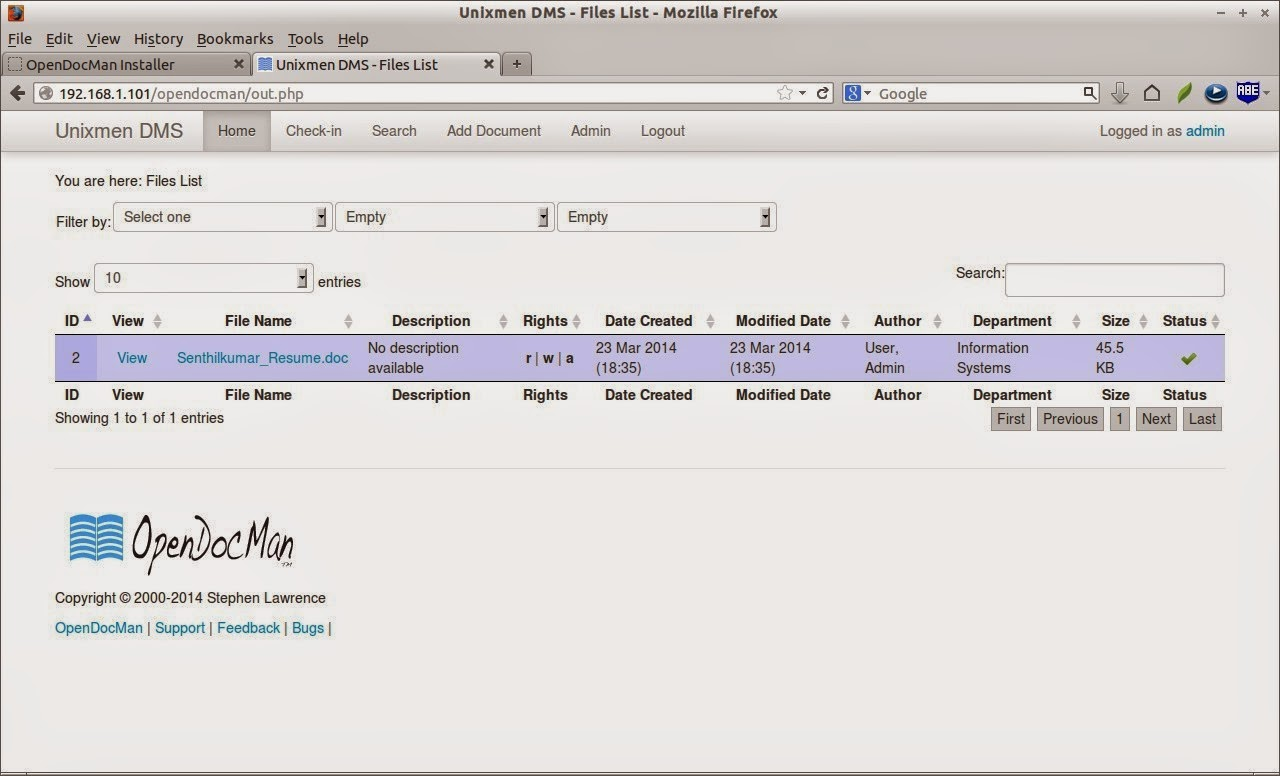 Work Profile on linux: How to setup Document Management