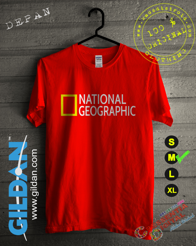 Baju Kaos National Geographic Warna Orange