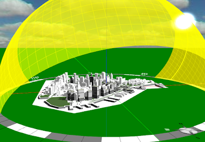 Solar analysis of metropolitan areas using Energy3D