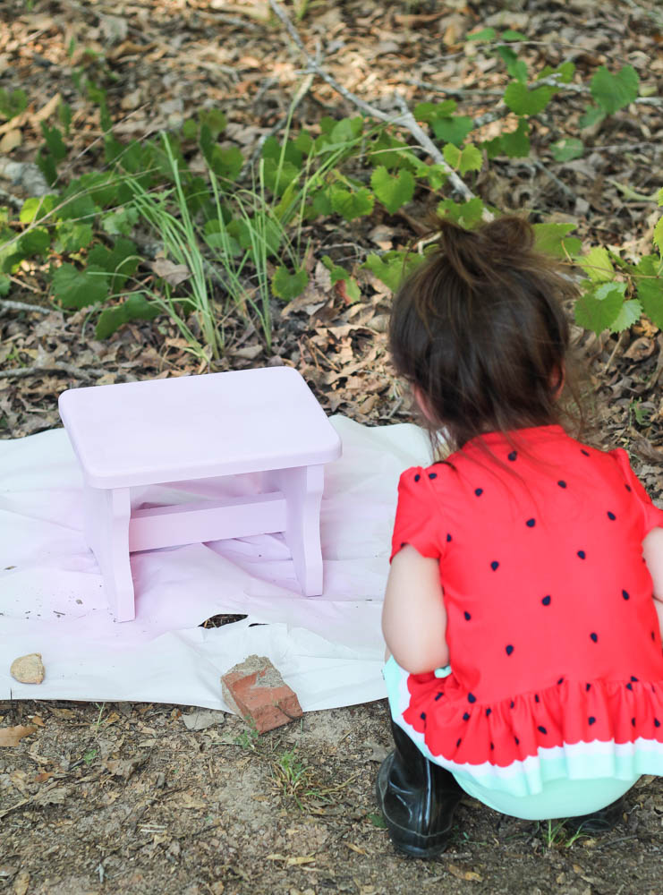 DIY Pink Princess Stool