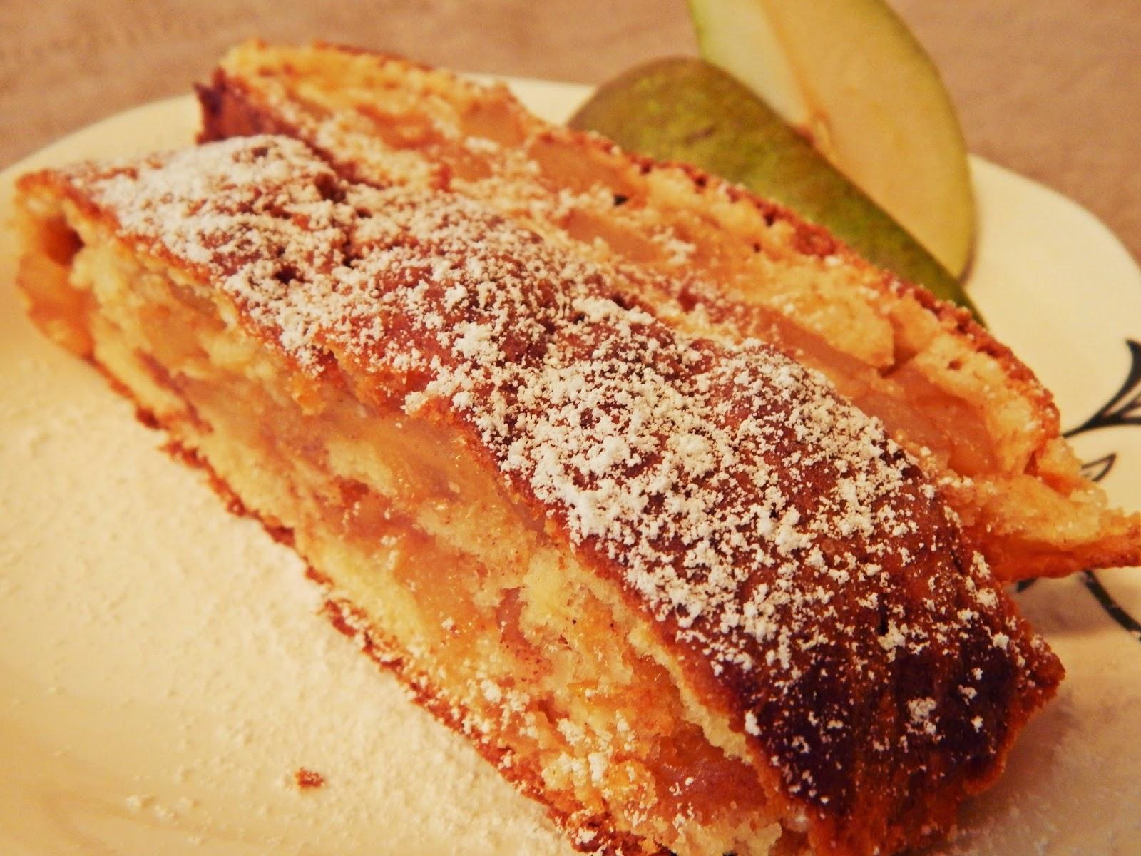 Ciasto z gruszkami w cynamonie