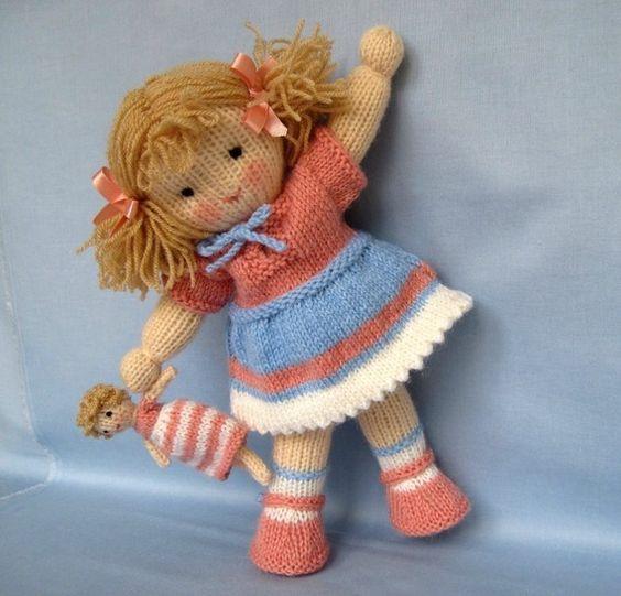 Muñeca Tejida Con Dos Agujas Paso A Paso Crochet Y Dos