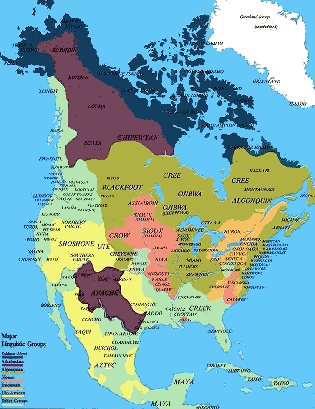 and it is this map that indicates a division of the north american continent by nations of indigenous peoples