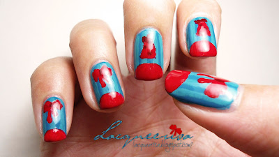 Lacqueerisa: Red on Teal Christmas