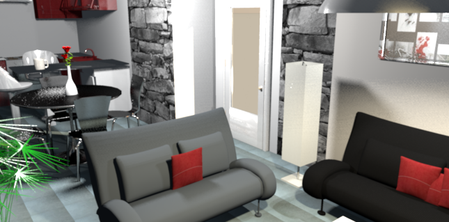deco salon gris et rouge. Black Bedroom Furniture Sets. Home Design Ideas