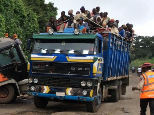 Photo: Passengers spotted on a goods only vehicle