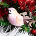 Kerst achtergrond met vogel in de kerstboom