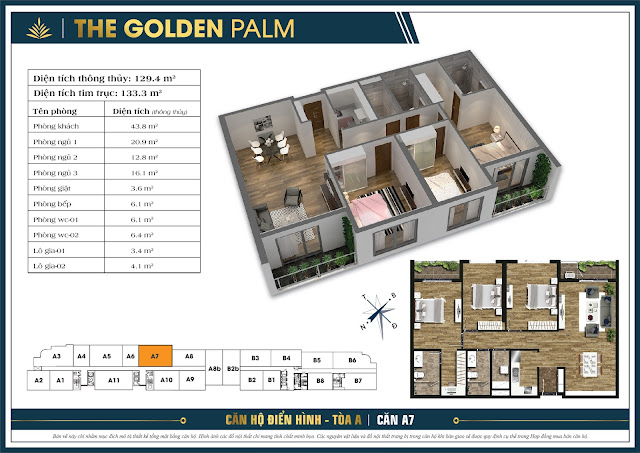Thiết Kế Mặt Bằng Căn Hộ The Golden Palm