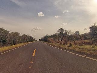 Bela paisagem - reta e vegetação - início do pantanal.