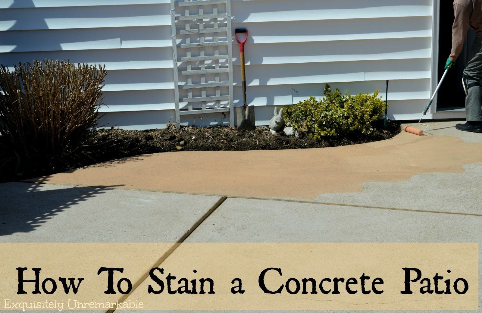 Diy Paint Concrete Patio How To Stain A Concrete Patio Exquisitely Unremarkable