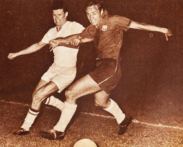 Chile y Hungría en partido amistoso, 9 de diciembre de 1961