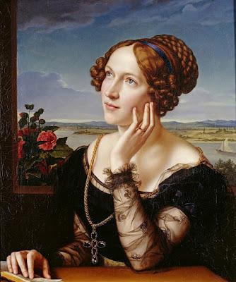 Carl Joseph Begas (1794-1854)- Вильгемина Бегас, жена художника