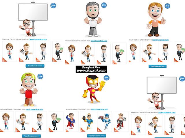فيكتورات للفوتوشوب شخصيات كرتونية بصيغة AI Vector Character