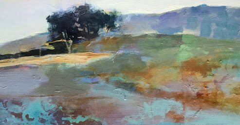 "Contemporary Abstract Landscape Art Painting ""Fresh Horizons"" by Intuitive Artist Joan Fullerton"