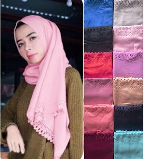 model pashmina satin velvet cutting