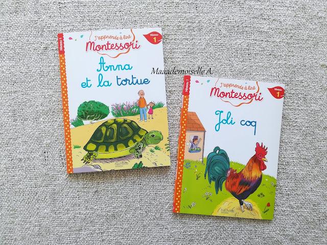 J'apprends à lire Montessori, Anna la tortue et Joli coq