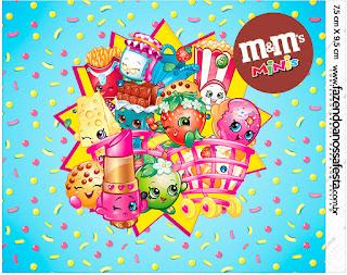 Etiqueta M&M de Shopkins para imprimir gratis.