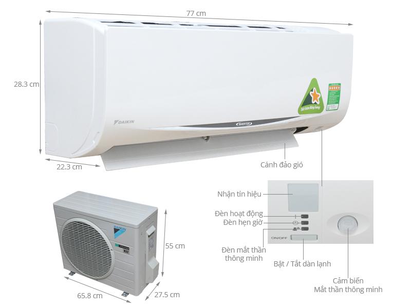 Đại lý bán máy điều hòa Daikin inverter chính hãng