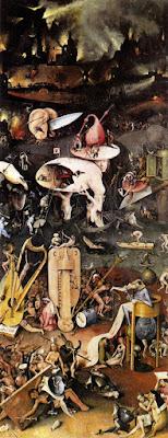 Il trittico del Giardino delle Delizie, Hieronymus Bosch, pannello di destra