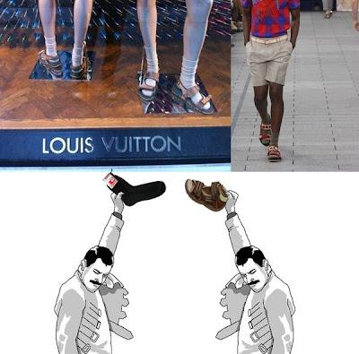 medias con sandalias