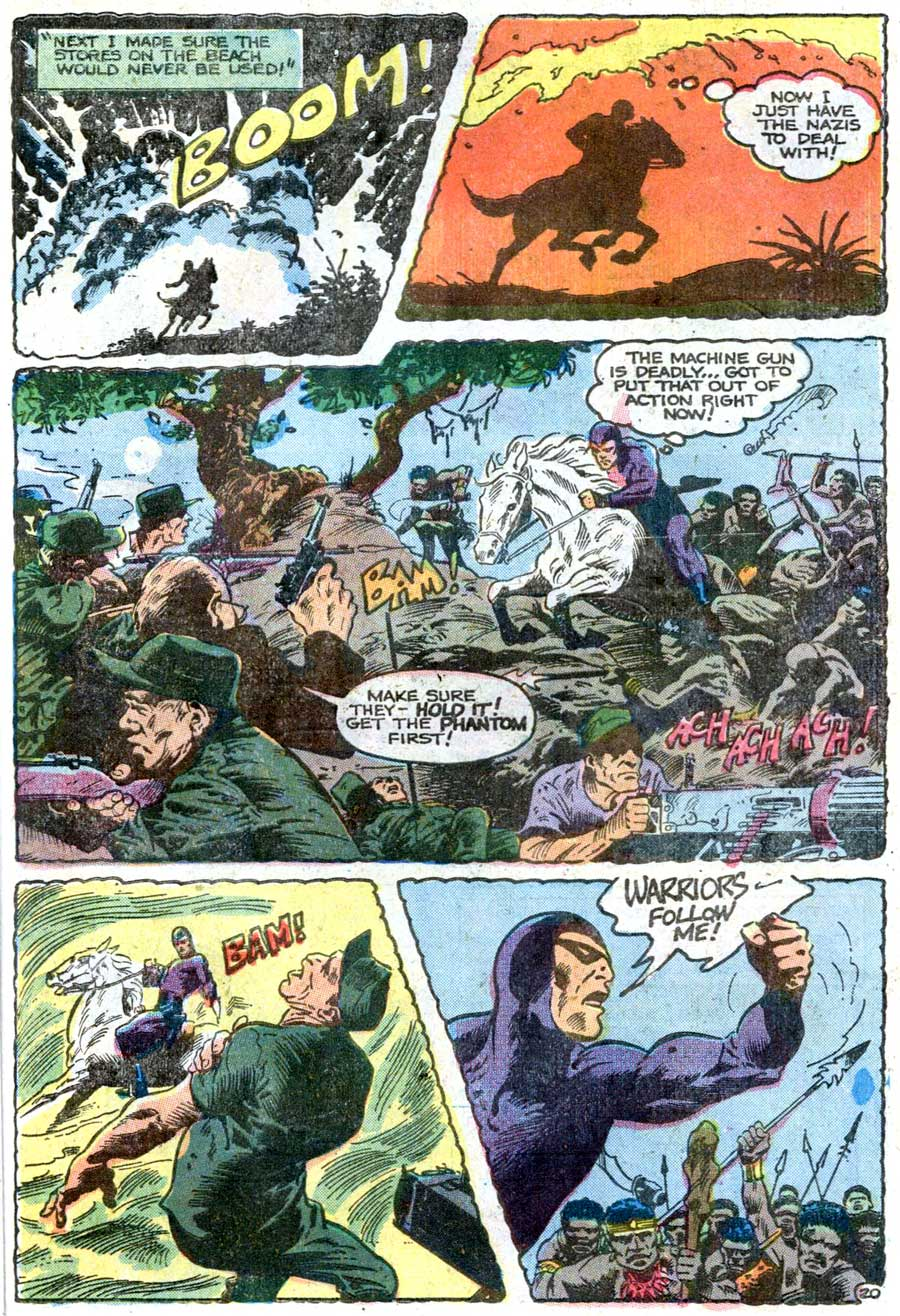The Phantom v2 #67 charlton comic book page art by Don Newton