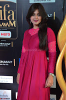 Monal Gajjar in Maroon Gown Stunning Cute Beauty at IIFA Utsavam Awards 2017 007.JPG