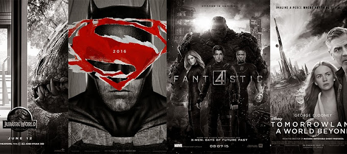 Batman vs Superman Tomorrowland Jurassic World Quarteto Fantástico