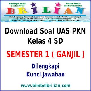 Download Soal UAS PKN Kelas 4 SD Semester 1 (Ganjil) Dan Kunci Jawaban