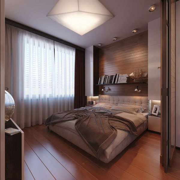 Bedroom design ideas bed wall decoration with book shelves - Bedroom wall shelves decorating ideas ...