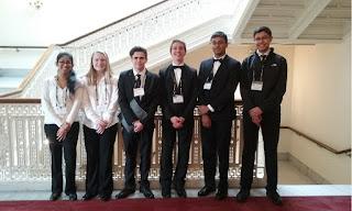 Franklin All State Student - From L to R: Brinda Venkataraman, Lauren Dennett, Evan Kurdi, Miles Reed, Sumit Choudhury, Augustine Marzoratti