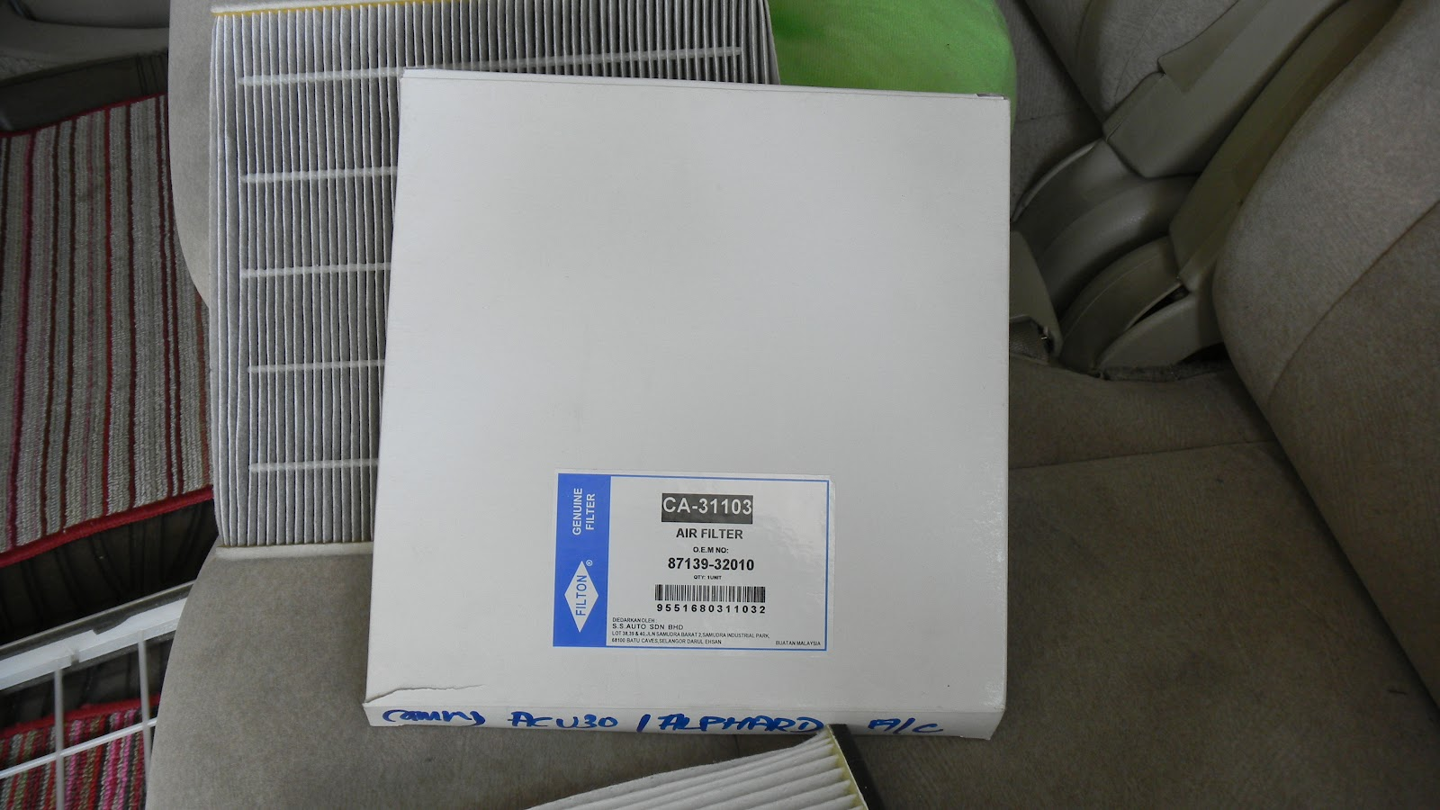 My Story Of Alphard Replace Cabin A C Filter