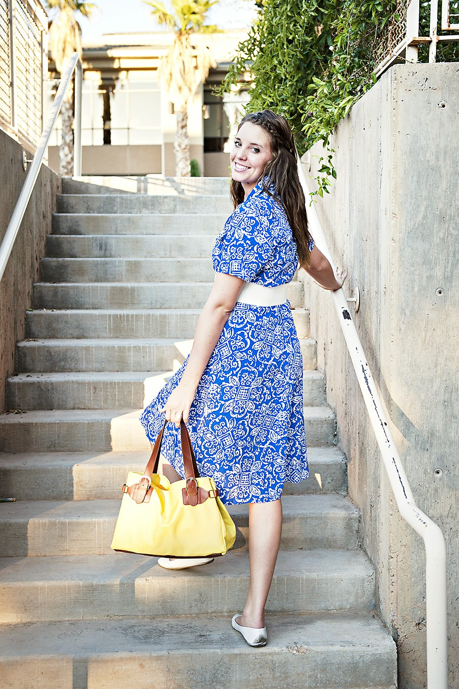 Blue Dress, Yellow Purse