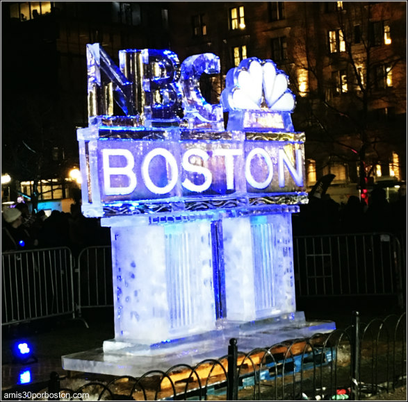 First Night Boston 2017: Escultura de Hielo en Copley