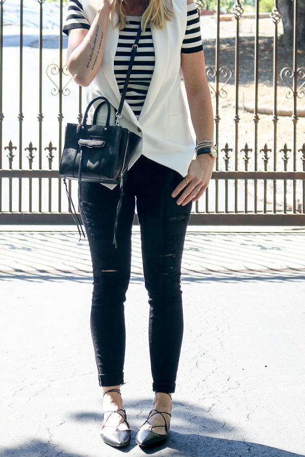 black ripped jeans distressed denim