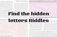 Find the hidden letters in the picture riddles