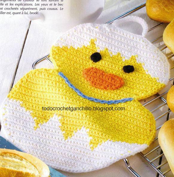 Pattern/Patrón: Chick pot holder / agarradera pollito :) | Tejido Facil