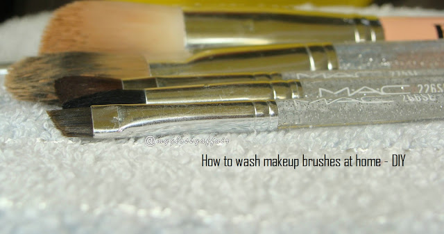 How to wash makeup brushes at home - DIY