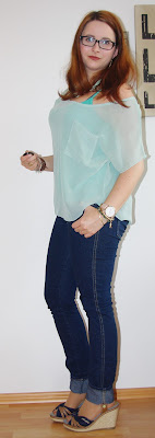 [Fashion] Play With My Mint: Chiffon Top & Jeans