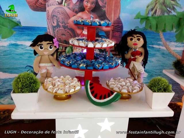 Decoração tema Moana - Festa de aniversário infantil