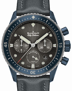 Montre Fifty Fathoms Bathyscaphe Chronographe Flyback Blancpain Ocean Commitment II