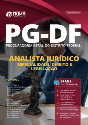 Apostila Concurso PG DF 2020 Analista Jurídico - Especialidade: Direito e Legislação Grátis Cursos Online